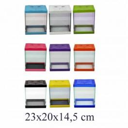 Renkli Mini Akvaryum 23x20x14,5 Cm
